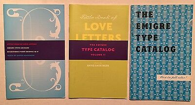 "Emigre Type Catalog & ""Love Letters"" Type Specimen books"