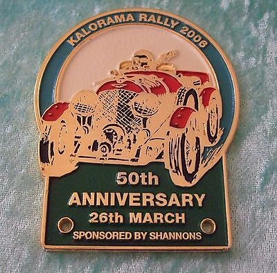 Grille / Car Badge - Kalorama Rally 2006 - 50Th Anniversary - 26Th March