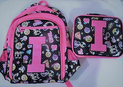 Justice for Girls Emoji Initial I ~Backpack & Lunch Box~ NWT!