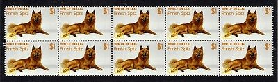 Finnish Spitz Year Of The Dog Strip Of 10 Mint Stamps 1