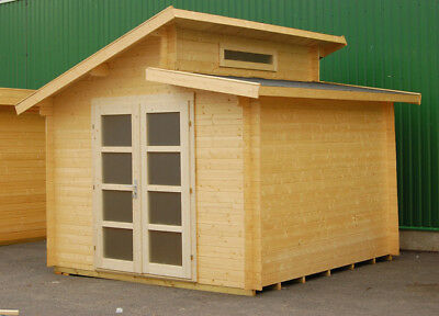 Reese Log Cabin 3.20 x 3.20m Summer Garden House Shed