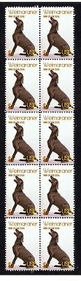 Weimaraner Year Of The Dog Strip Of 10 Mint Stamps 2