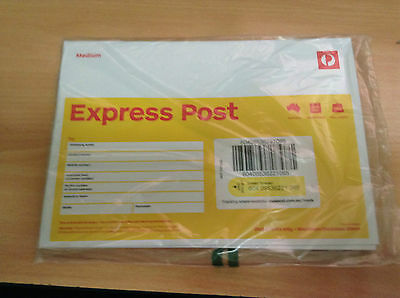 10 X Express Post Prepaid Envelope  C5 - Brand New Free Delivery