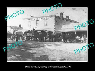 OLD LARGE HISTORIC PHOTO OF STRATHALBYN SA, VIEW OF THE VICTORIA HOTEL c1890