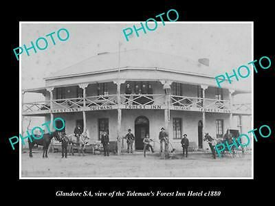 OLD LARGE HISTORIC PHOTO OF GLANDORE SOUTH AUSTRALIA, THE FOREST INN HOTEL c1880