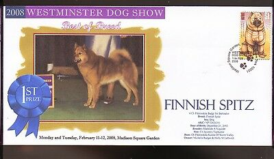 W/M 2008 DOG SHOW BEST of BREED COVER, FINNISH SPITZ