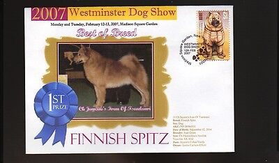 W/M 2007 DOG SHOW BEST of BREED COVER, FINNISH SPITZ