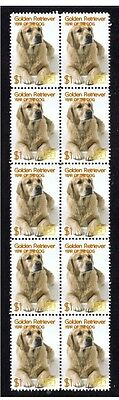 Golden Retriever Strip Of 10 Mint Year Of Dog Stamps 3