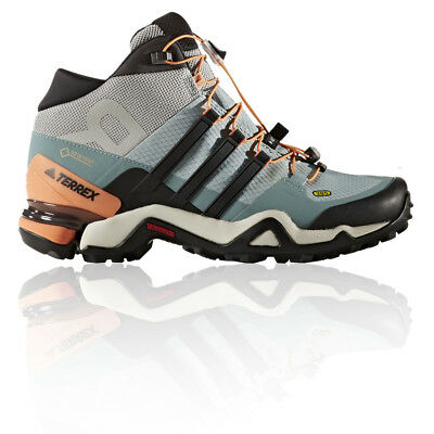 Adidas Terrex Fast R Mid Womens Blue Gore Tex Waterproof Walking Boots Shoes