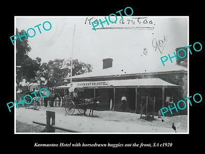 OLD LARGE HISTORIC PHOTO OF KANMANTOO SA, VIEW OF THE KANMANTOO HOTEL c1920
