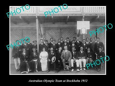 Old Large Historical Photo Of Australian Team For Stockholm Olympic Games 1912