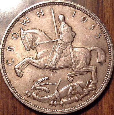 1935 Uk Gb Great Britain Silver Crown In Remarkable Condition !!