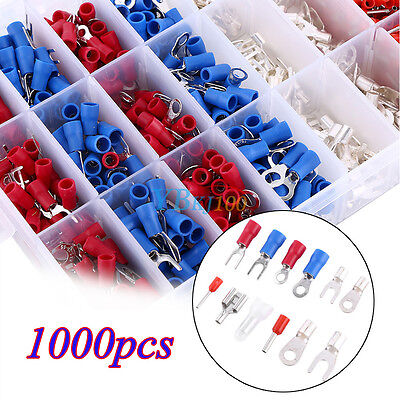 1000Pcs Assorted Crimp Terminals Set Insulated Electrical Wiring Connector Kit