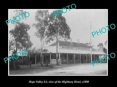 OLD LARGE HISTORIC PHOTO OF HOPE VALLEY SA, VIEW OF THE HIGHBURY HOTEL c1890