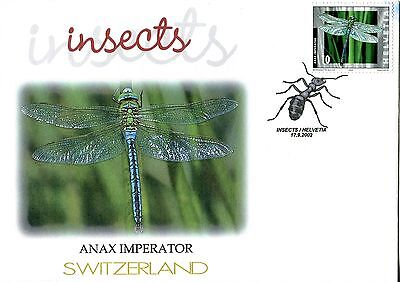 Switzerland 2002 Insects - Dragonfly FDC