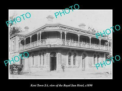 OLD LARGE HISTORIC PHOTO OF KENT TOWN SA, VIEW OF THE ROYAL SUN HOTEL c1890