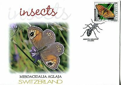 Switzerland 2002 Insects - Butterflies FDC