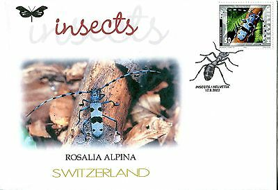 Switzerland 2002 Insects - Beetles FDC