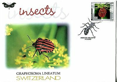 Switzerland 2002 Insects - Beetle FDC
