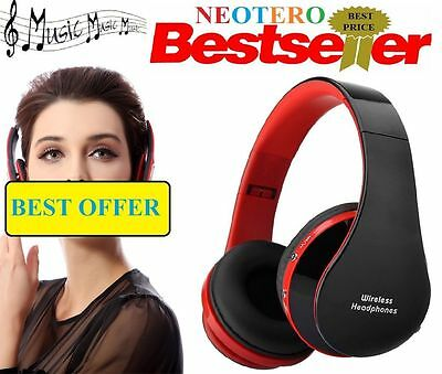 Wireless Stereo Bluetooth Headset Foldable Headphones Mic For iPhone HTC Samsung
