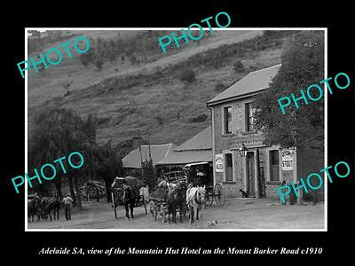 OLD LARGE HISTORIC PHOTO OF ADELAIDE SA, VIEW OF THE MOUNTAIN HUT HOTEL, c1900