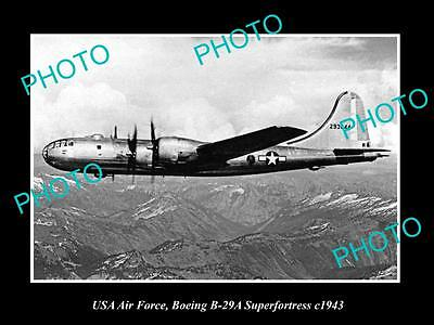 Old Large Historic Photo Of Usa Air Force, Boeing Superfortress Plane 1943