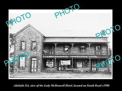 OLD LARGE HISTORIC PHOTO OF ADELAIDE SA, VIEW OF THE LADY MacDONNELL HOTEL c1900