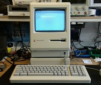 Rare Vintage Apple Mac Macintosh Plus 1Mb Computer System (Mint)