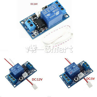 New DC 5V/12V/24V 1 Channel Latching Relay Module With Touch Bistable Switch MCU