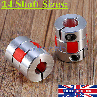 Aluminium Flexible Plum Shaft Coupling CNC Stepper Motor Connector Coupler UK
