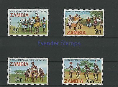 Zambia 1977 The 2nd African Art and Culture Festival - Lagos, Nigeria. MNH