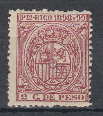 Puerto Rico 1898-99 2c de Peso Mounted Mint Fiscal / Revenue?; see both scans