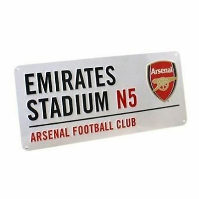 Arsenal Fc Emirates Street Sign White Red Kids Official Bedroom Wall Decor New