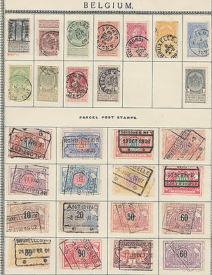 Belgium Used Selection inc. Parcel/Railway Stamps per scans