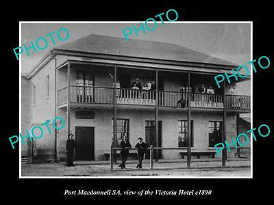 OLD LARGE HISTORIC PHOTO OF PORT MACDONNELL SA, THE VICTORIA HOTEL c1890