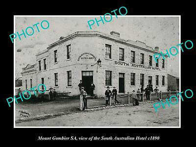 OLD LARGE HISTORIC PHOTO OF MOUNT GAMBIER, THE SOUTH AUSTRALIAN HOTEL c1890