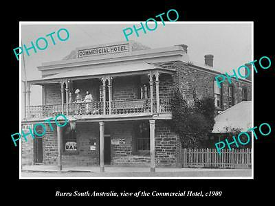 OLD LARGE HISTORIC PHOTO OF BURRA SOUTH AUSTRALIA, THE COMMERICAL HOTEL c1900