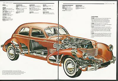 1936 CORD 810  2-page Cutaway Illustration