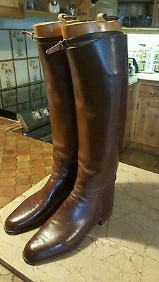 Vntage Leather Riding Boots / Boot Trees.Beautiful Condition.Brown ladies