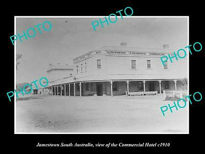 OLD LARGE HISTORIC PHOTO OF JAMESTOWN SOUTH AUSTRALIA, COMMERCIAL HOTEL c1910