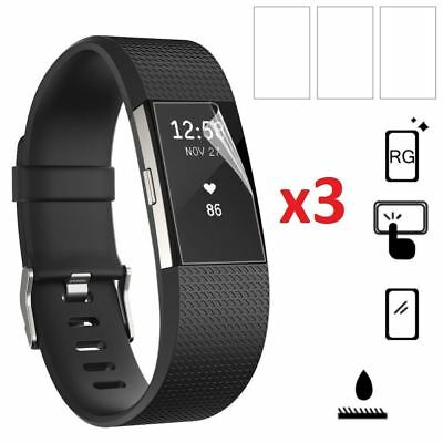 Hellfire Trading 3x Screen Protector Film Cover Guard for Fitbit Charge 2