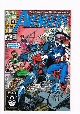 Avengers # 335 Bloody Encounter ! Epting Art grade 9.0 scarce book !!