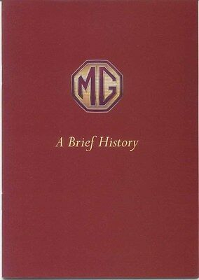 MG A Brief History 1890-1997 Original UK Corporate History & Publicity Booklet