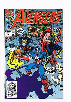 Avengers # 343 First Night ! Intro the Gatherers grade 9.0 scarce book !!