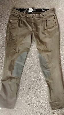 Mark Todd Mens Olive Breeches sz 38