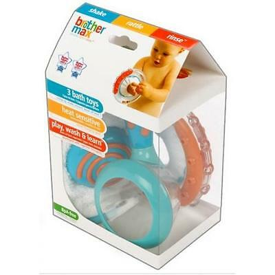 Brother Max Bath Toys Set Play Wash & Learn Colour Changing BPA Free (3-Pack)