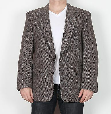 "Harris Tweed tailored Jacket Chest 42"" Blazer Brown (9BB)"