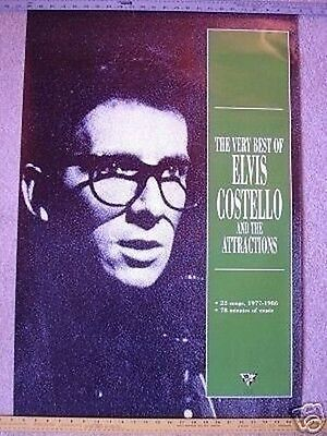 ELVIS COSTELLO & ATTRACTIONS Promo POSTER collectible