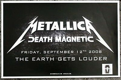 METALLICA Promo POSTER Death Magnetic collectible