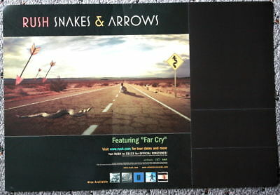 RUSH snakes & arrows Promo POSTER flat display